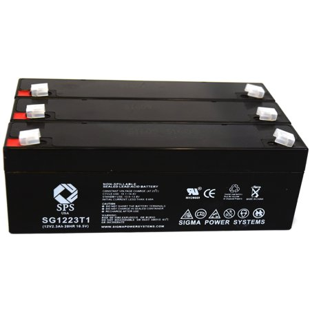 Sps Brand 12V 2 3 Ah Replacement Battery  For Omega 1400 Bp Cuff  3 Pack