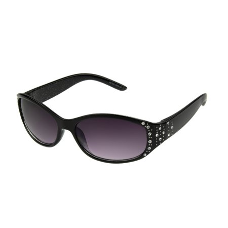 Foster Grant Women's Black Wrap Sunglasses H05