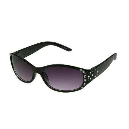 Foster Grant Women's Black Wrap Sunglasses H05](80s Wrap Sunglasses)
