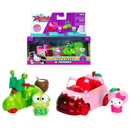 Hello Kitty Apple Coupe & Keroppi Coconut Scooter Metals Diecast Twin Pack ()