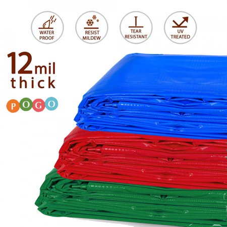12 X 12 Canvas Tarp Strong Resistance To Heat And Hard Wearing Yard, Garden & Outdoor Living