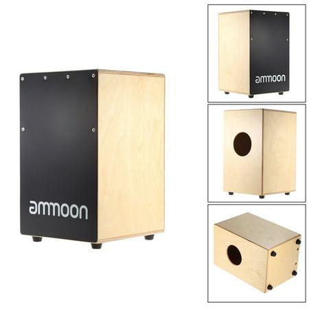 ammoon Wooden Cajon Hand Drum Children Box Drum Persussion Instrument