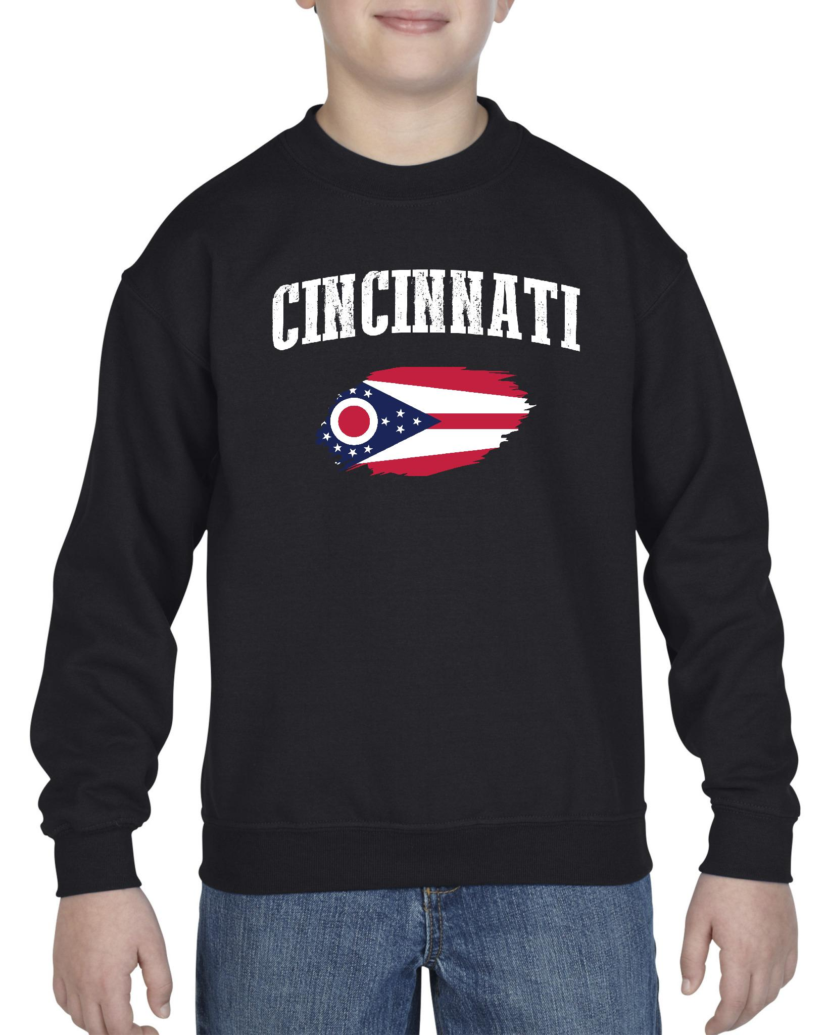 Cincinnati Ohio Youth Crewneck Sweatshirt
