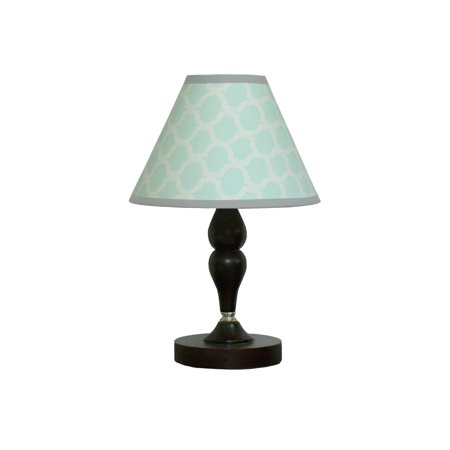 - GEENNY Lamp Shade, Soft Mint Green & Gray Chevron