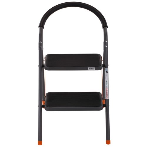 VonHaus 3.25 ft Steel Folding Portable Step Ladder with 330 lb. Load Capacity