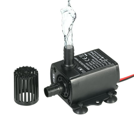 External Aquarium Water Pumps - Decdeal DC12V 5W Ultra-quiet Mini Brushless Water Pump Waterproof Submersible Fountain Aquarium Circulating 280L/H Lift 300cm