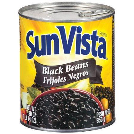 Sun-Vista Frijoles Negros Black Beans, 30 oz - Walmart.com