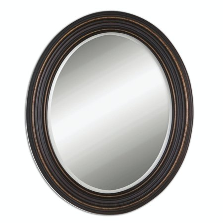 34 Olivia Oval Beveled Mirror With Dark Oil Rubbed Bronze Frame