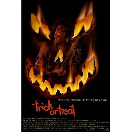 No Trick Treat Poster (Trick or Treat (1986) 27x40 Movie Poster )