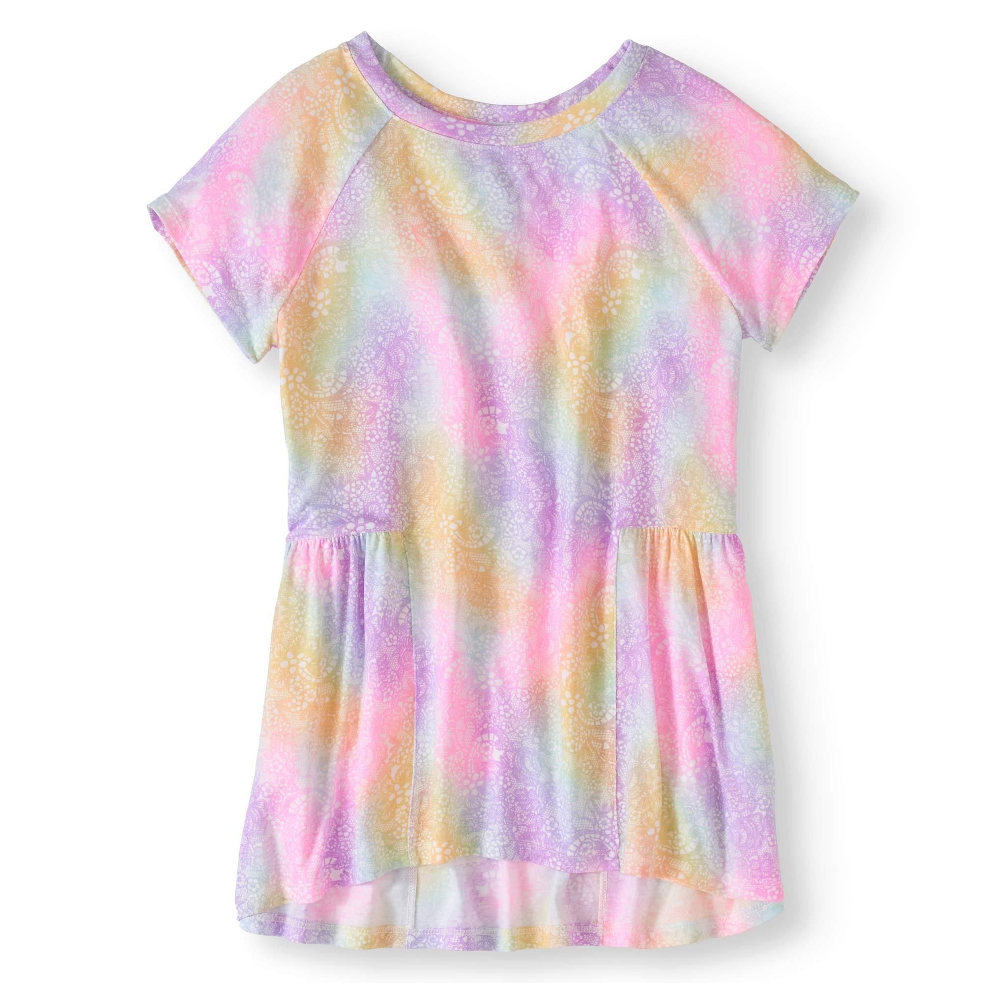 Girls' Soft Jersey Peplum Hem Tee
