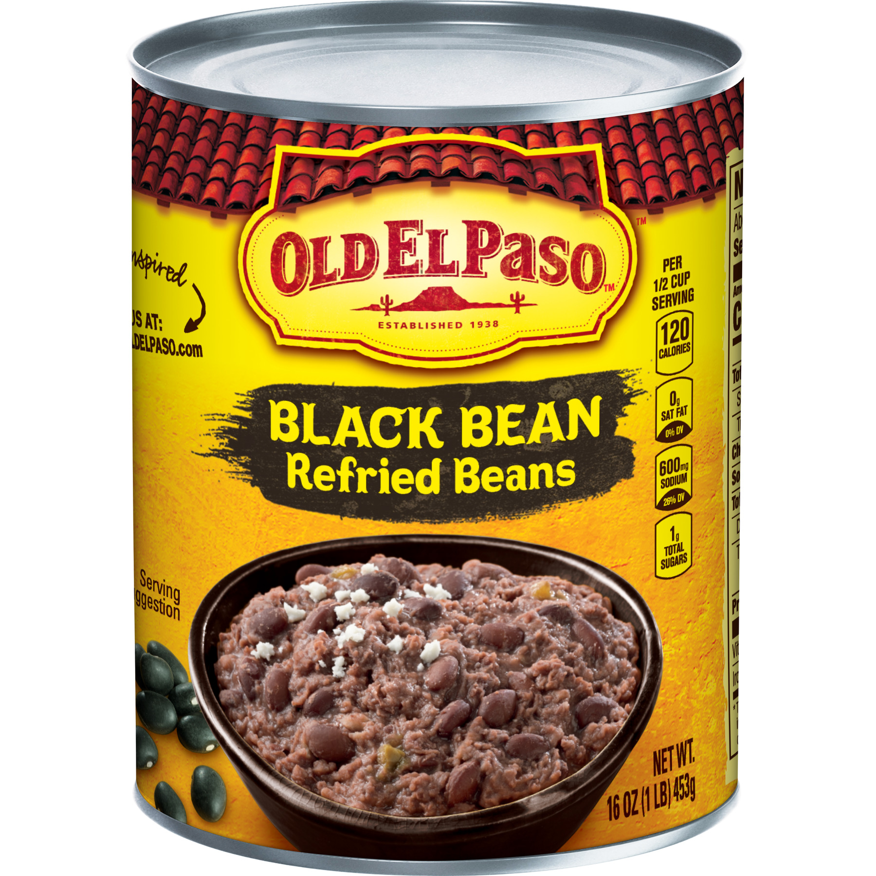 Old El Paso Black Bean Refried Beans 16 Oz Walmart Com Walmart Com