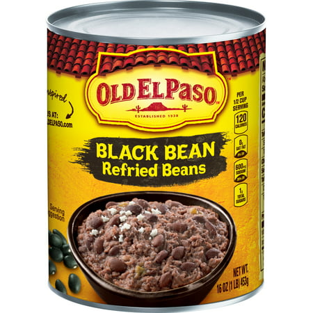 Old El Paso Black Bean Refried Beans, 16 oz Can (Best Store Bought Refried Beans)