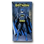 Batman towlbatstand Batman Standing Beach Towel