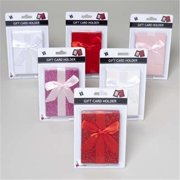 Glittered With Satin Bow Gift Card Holder Case Of 48