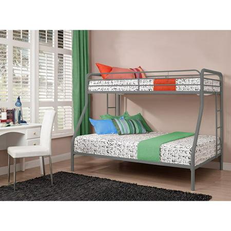 dorel twin over full metal bunk bed multiple colors walmartcom - Metal Bunk Bed Frames