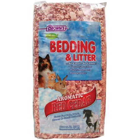 Brown's Red Cedar Bedding, 1200 cu. In. Red Cedar Cat