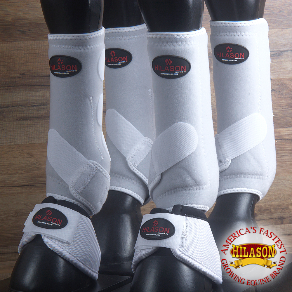 HILASON INFRA-TECH HORSE MEDICINE SPORTS BOOTS FRONT REAR HIND 4 PACK BELL by