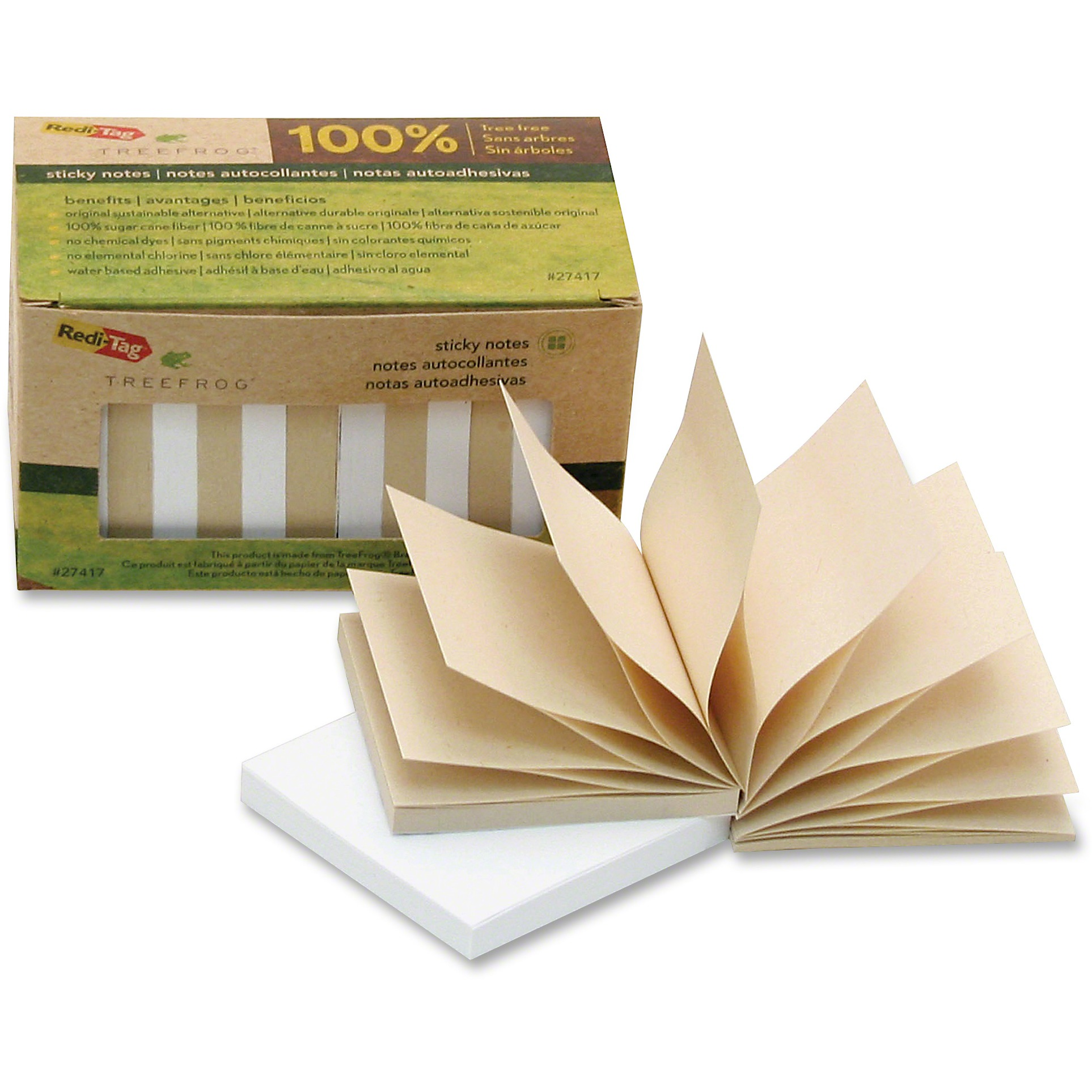 Redi-Tag, RTG27417, TreeFrog Pop-up Notes, 12 / Pack, Classic White