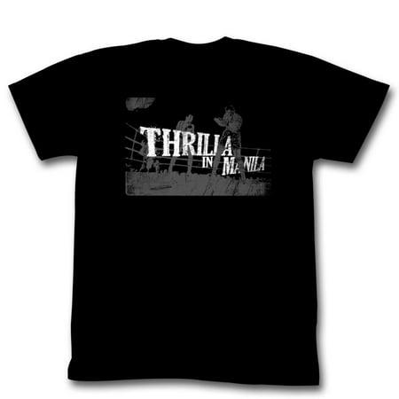 MUHAMMAD ALI-THRILLA IN MANILA-BLACK ADULT S/S TSHIRT-3XL - image 1 of 1