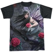 Anne Stokes - Rose Fairy - Short Sleeve Black Back Shirt - X-Large