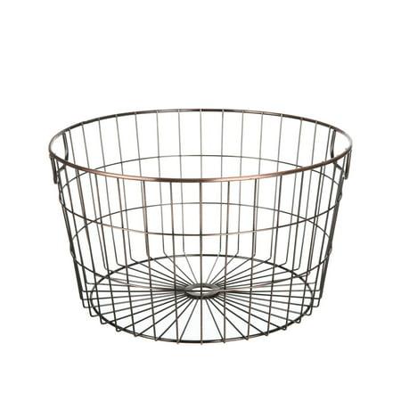 Mainstays Round Wire Basket Brass