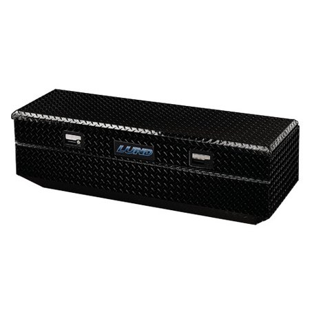 Lund 79460T Black Aluminum Full-Size Flush Mount Truck Box (Black Truck Tool Box)