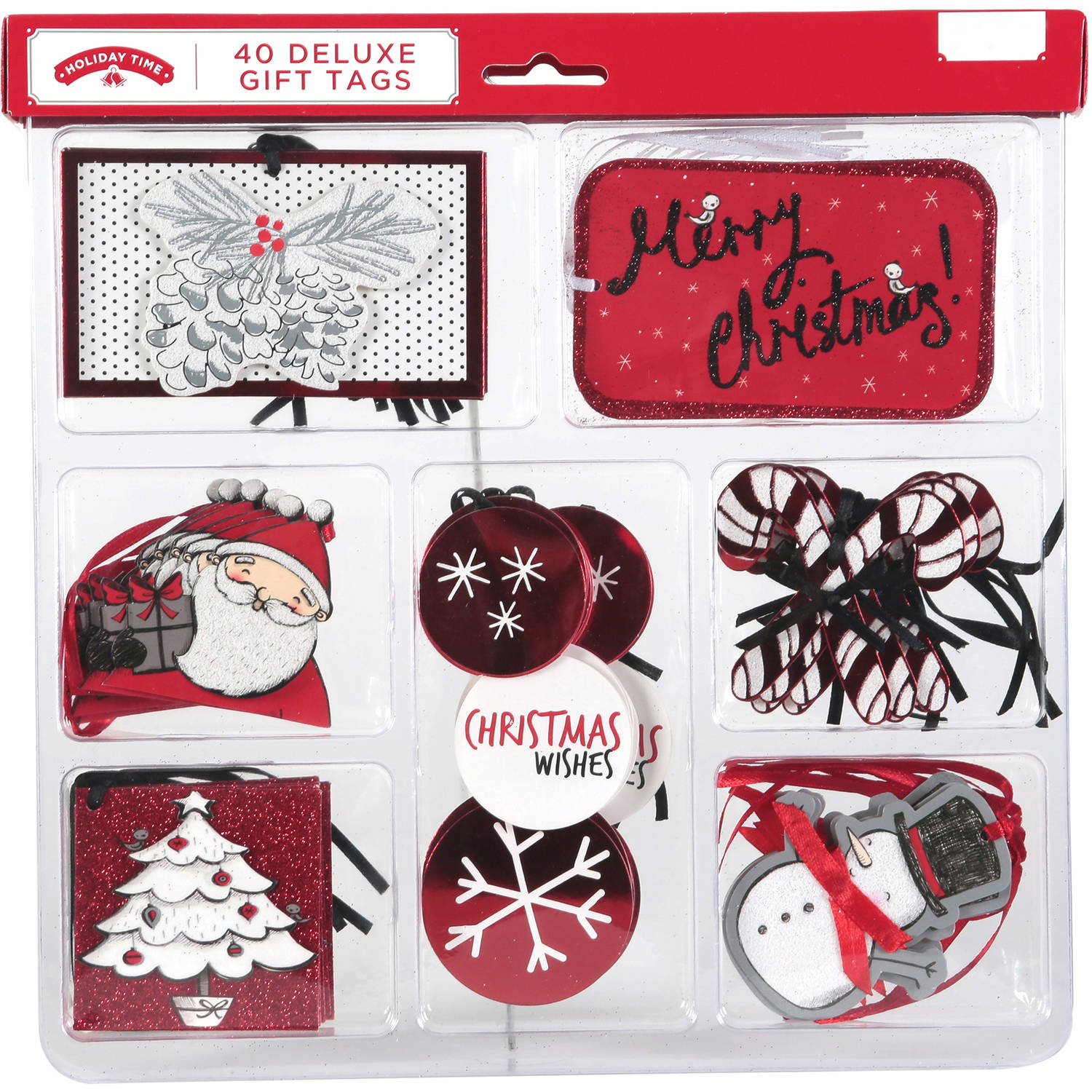 Holiday Time Deluxe Tags, 40-Pack
