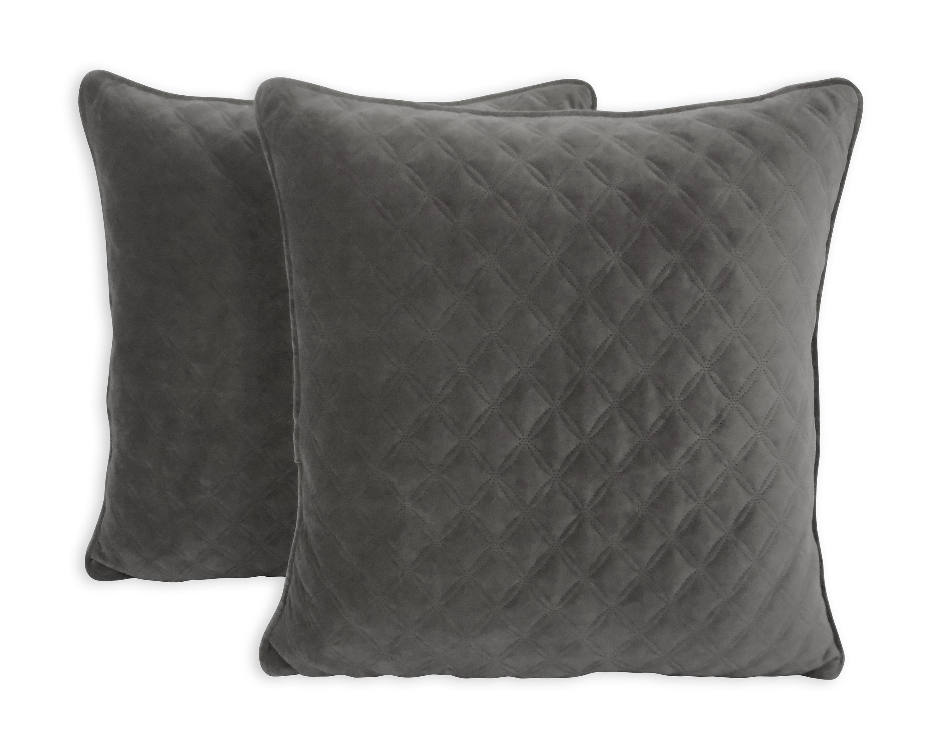 """Better Homes & Gardens Quilted Velvet Decorative Throw Pillow, 19"""" x 19\ by Betters Homes %26 Gardens"""