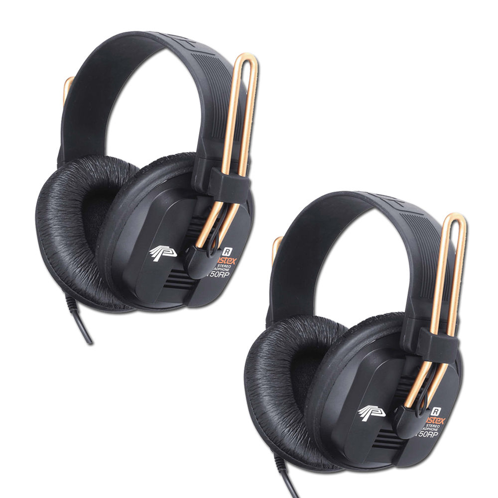 Fostex T50-RP Hi-Fidelity Pro Headphones, Detachable/Lock Cable - 2 Pack