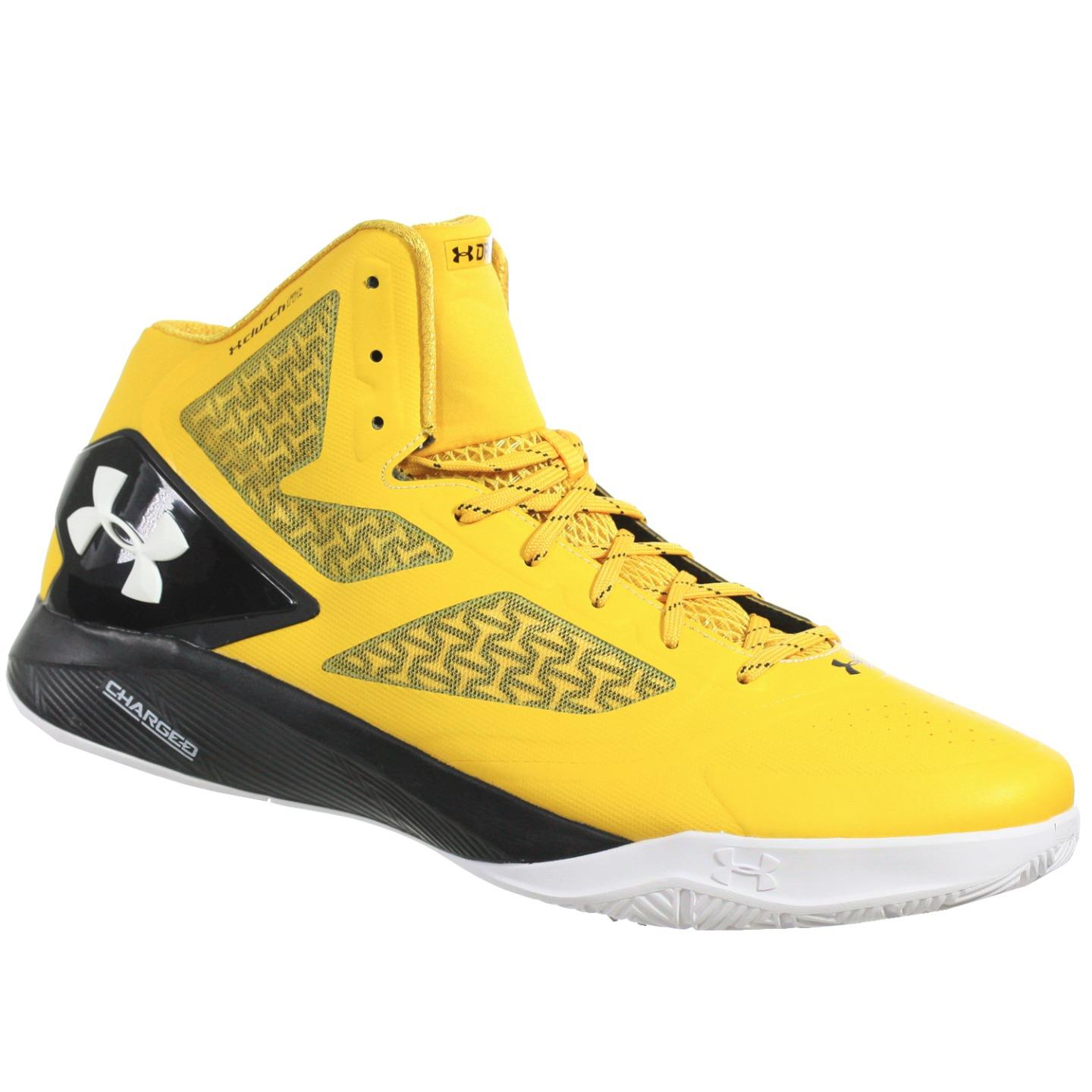 UNDER ARMOUR MEN'S BASKETBALL SHOES TB CLUTCHFIT DRIVE 2 GOLD BLACK WHITE 17 M