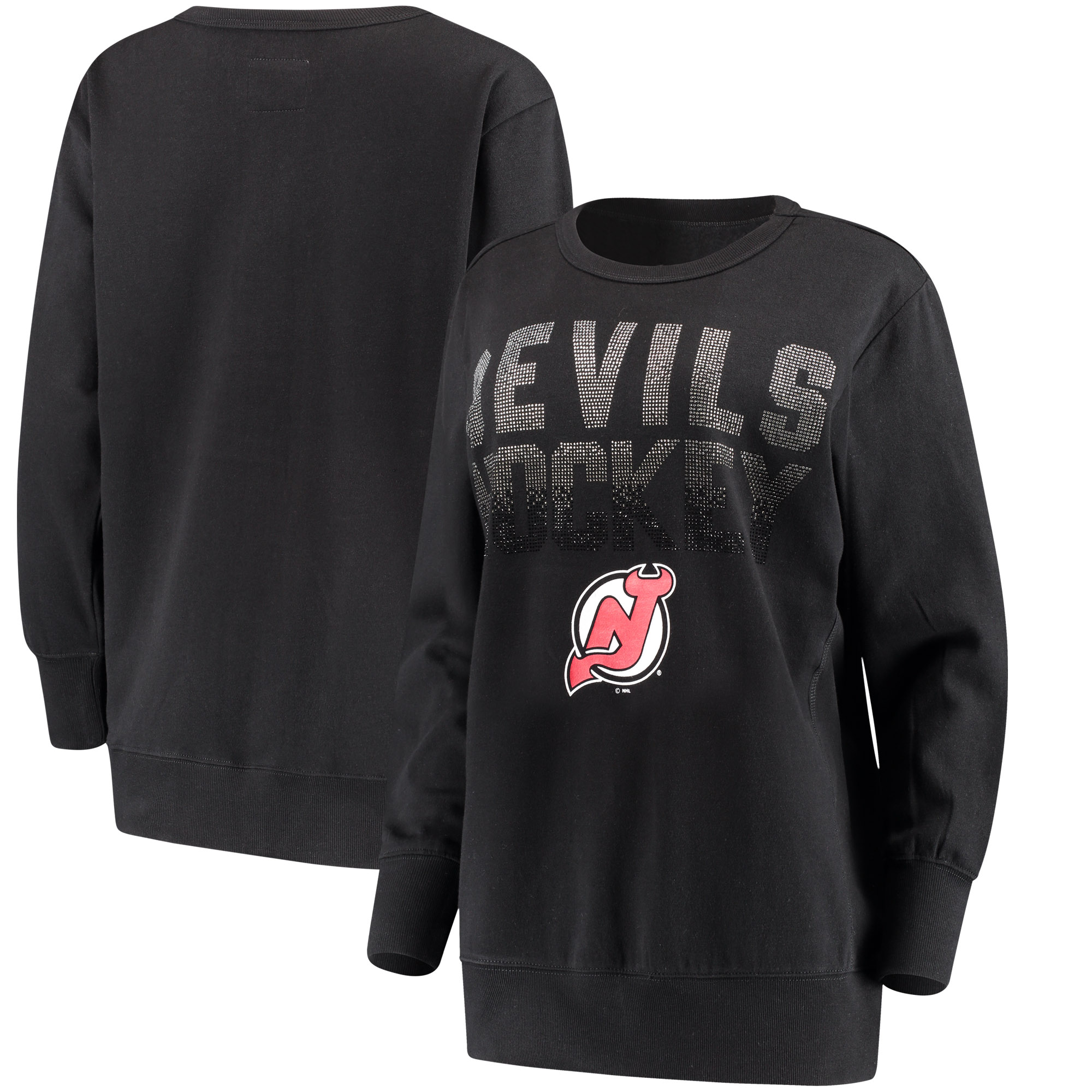 New Jersey Devils G-III 4Her by Carl Banks Women's Showtime Pullover Crewneck Sweatshirt - Black