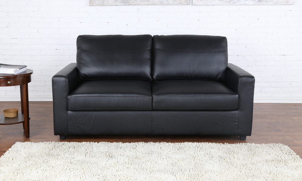Bonded Leather Living Room Sleeper / Pull Out Sofa And Bed