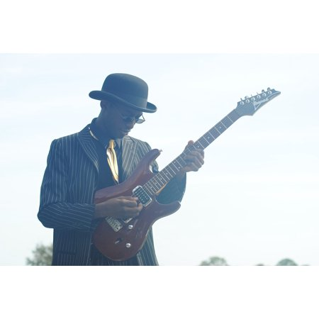 Blues Guitar Arrangements - LAMINATED POSTER Inspiration Happiness Blues Guitar Musician Music Poster Print 24 x 36