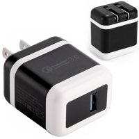 USB Wall Charger, 1-Port Qualcomm Quick Charger 3.0 Plug Cube Replacement for iPhone X/8/7/6S/6S Plus/6 Plus/6/5S/5, Samsung Galaxy S8/S9/S10/S7/S6/S5 Edge+, LG, HTC, Huawei, Motorola, Kindle by Borz