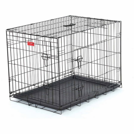 30 L Lucky Dog Folding Black Wire 2 Door Training Crate