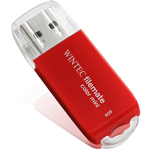 Wintec 8GB Red USB Flash Drive