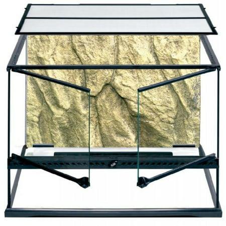 Bearded Dragon Terrarium - Exo Terra Glass Terrarium Tank, 24 by 18 by 18-Inch