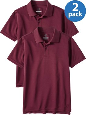 0a87a266 Product Image Wonder Nation Boys School Uniform Short Sleeve Performance  Polo, 2-Pack Value Bundle