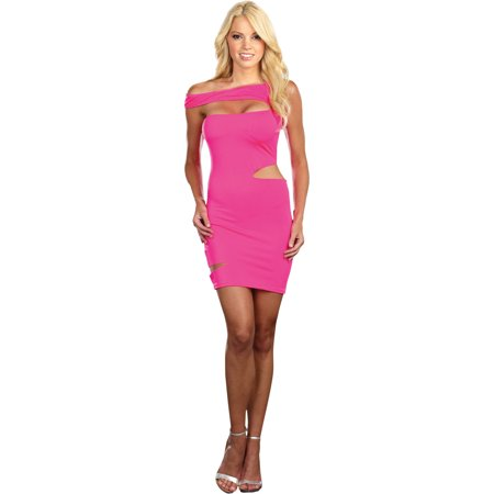 Pink Halloween Party (Neon Pink Dress Women's Adult Halloween)