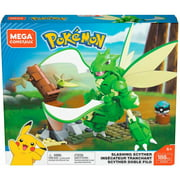 Mega Construx Pokemon Slashing Scyther Construction Set with character figures, Building Toys for Kids (188 Pieces)