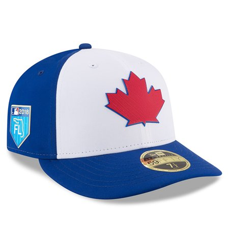 hot sale online da8db c47af Toronto Blue Jays New Era 2018 Spring Training Collection Prolight Low  Profile 59FIFTY Fitted Hat - White - Walmart.com