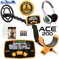 Garrett ACE 200 Metal Detector with Waterproof Search Coil and Headphones
