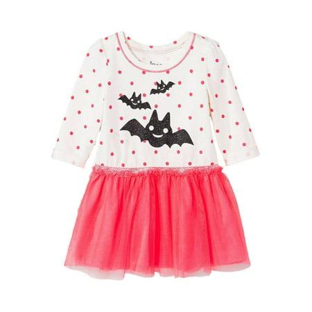 f8c17bef2 Circo - Infant Toddler Girls Ivory Pink Bat Halloween Long Sleeved ...