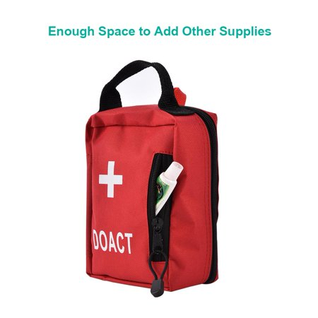 TOPINCN First Aid Kits 203 PCS Medical Supplies and Equipment for Outdoor Indoor Emergency Survival for Camping Hiking Boating Traveling (Home Aid Medical Equipment & Supplies Inc)