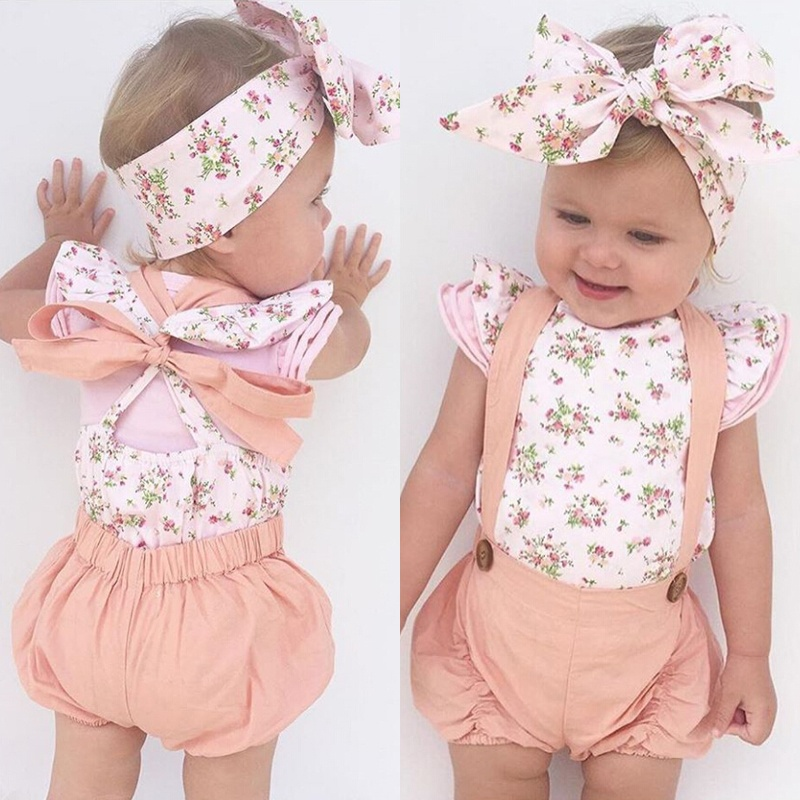Emmababy Newborn Toddler Infant Baby Girl Romper Jumpsuit Bodysuit