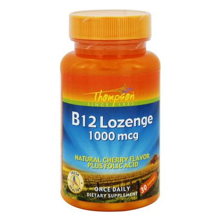 Thompson - Vitamin B12 Lozenge Natural Cherry Flavor 1000 mcg. - 30 Lozenges