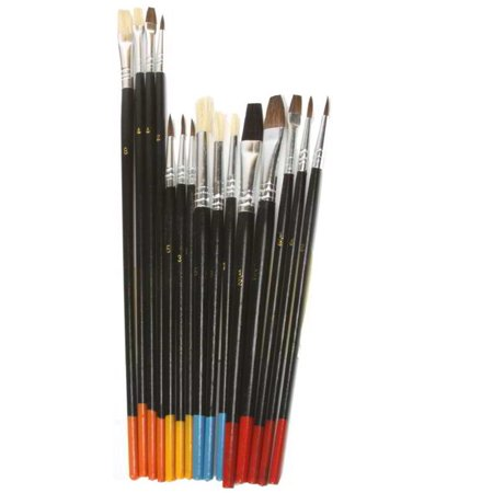 Hobby Lobby Art Supplies (Artist Painting Brush Set 15 Natural Hair Brushes Hobby Craft Paint Kit)