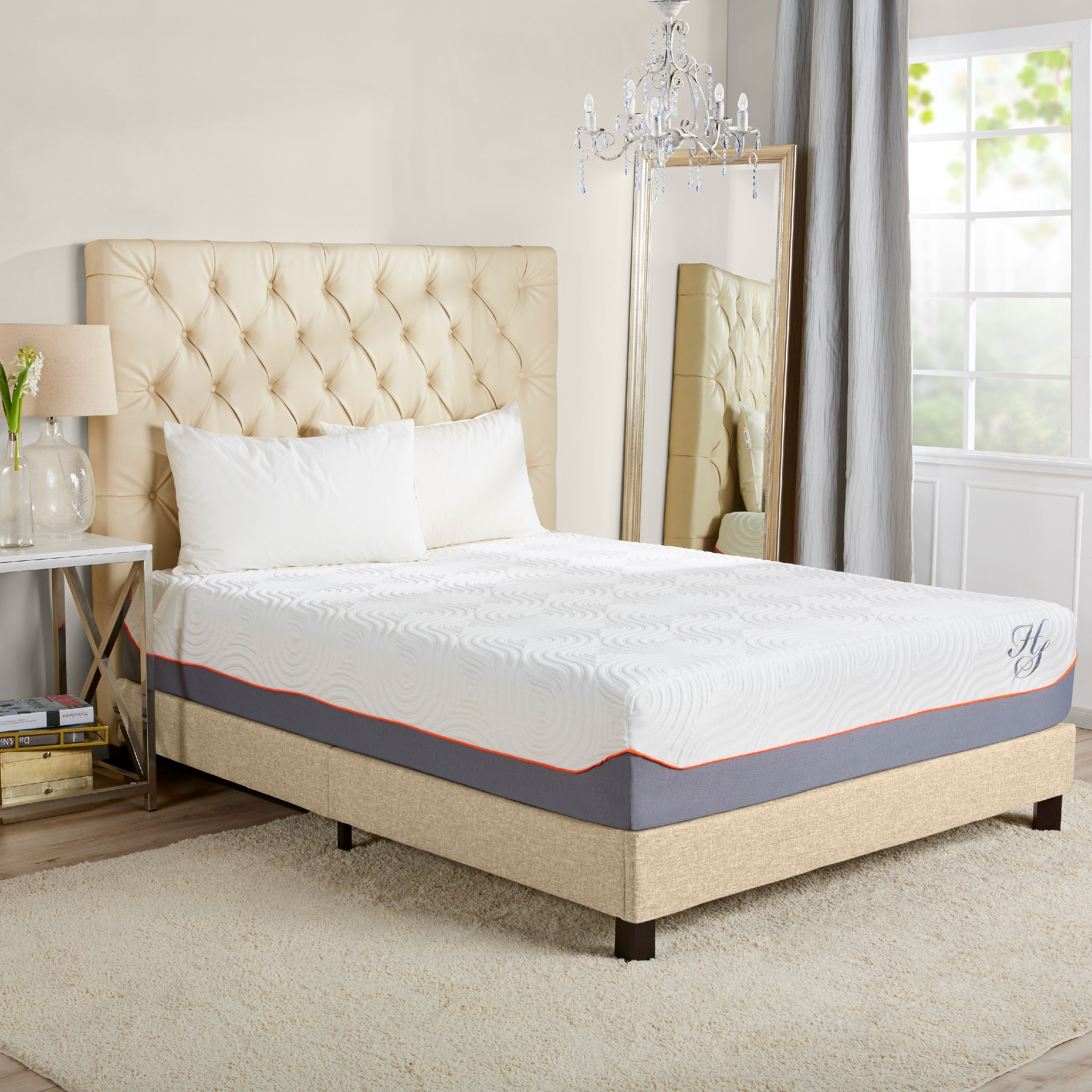 "Hotel Style 14"" Cooling Memory Foam Hybrid iCoil Spring Mattress"