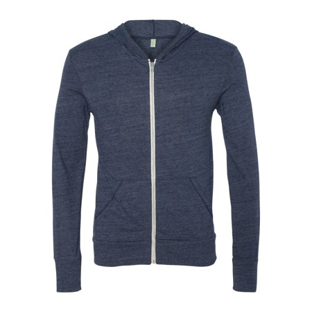 Alternative Apparel 1970e1 Unisex Eco-Jersey Hooded Full-Zip T-Shirt