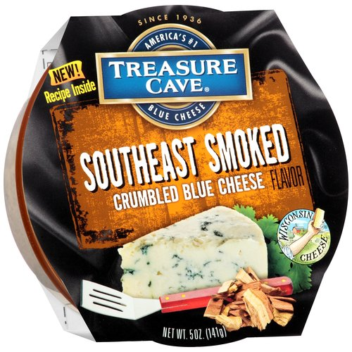 Treasure Cave Southeast Smoked Crumbled Blue Cheese, 5 oz